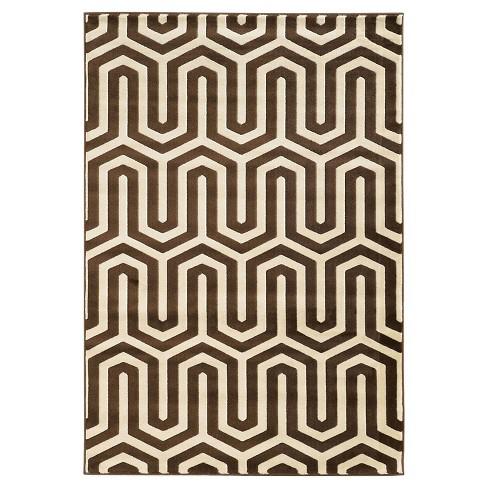 Roma ZigZag Accent Rug - Ivory / Chocolate (2' X 3') - image 1 of 1