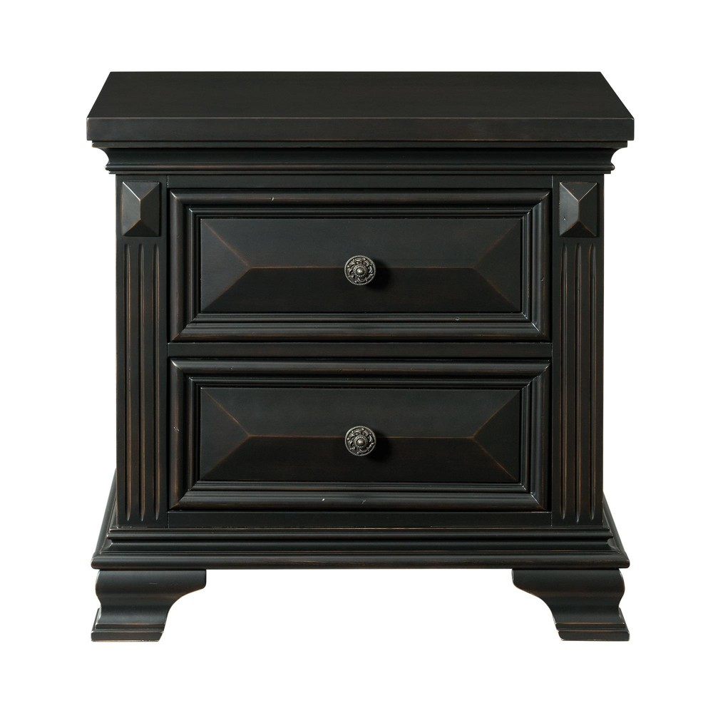 Image of 2 Drawer Trent Nightstand Antique Black - Picket House Furnishings