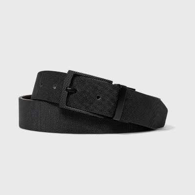 Men's Reversible Embossed Textured Belt   Goodfellow & Co Black by Goodfellow & Co Black