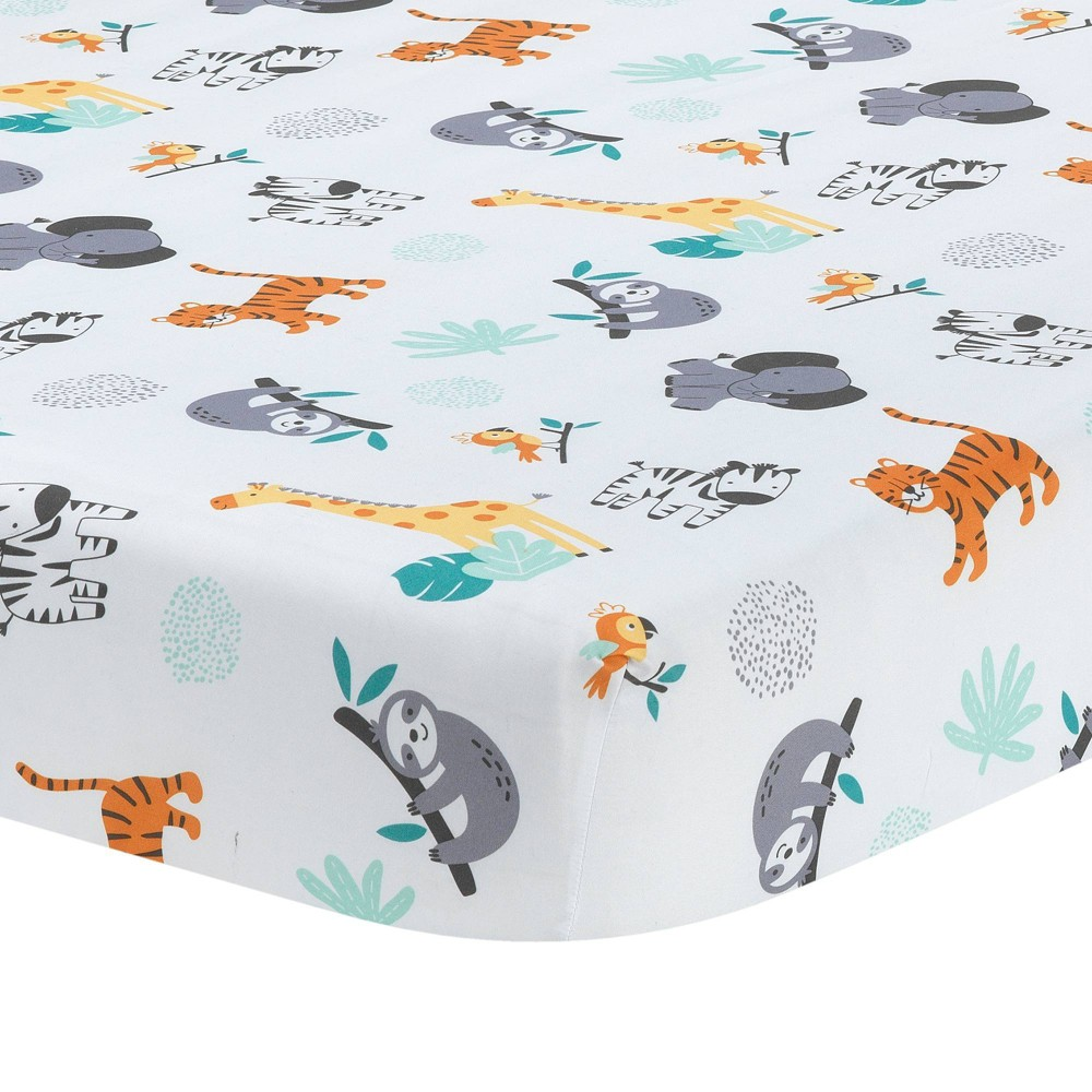 Lambs 38 Ivy Mighty Jungle Fitted Crib Sheet
