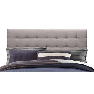 Delaney Upholstered Headboard King Stone Fabric Metal Headboard Frame Not Included - Hillsdale Furniture