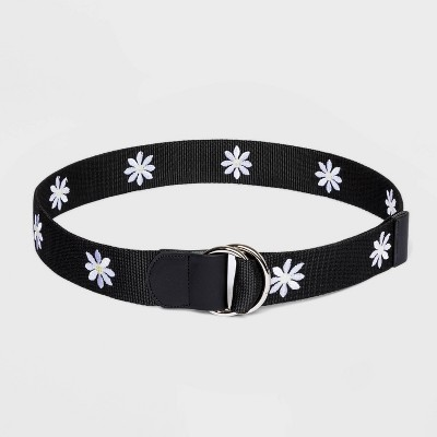 Women's Fable Daisy Embroided Web Belt - Wild Fable™