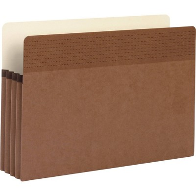 Business Source 25ct Redrope Legal Expanding File Pockets - Red