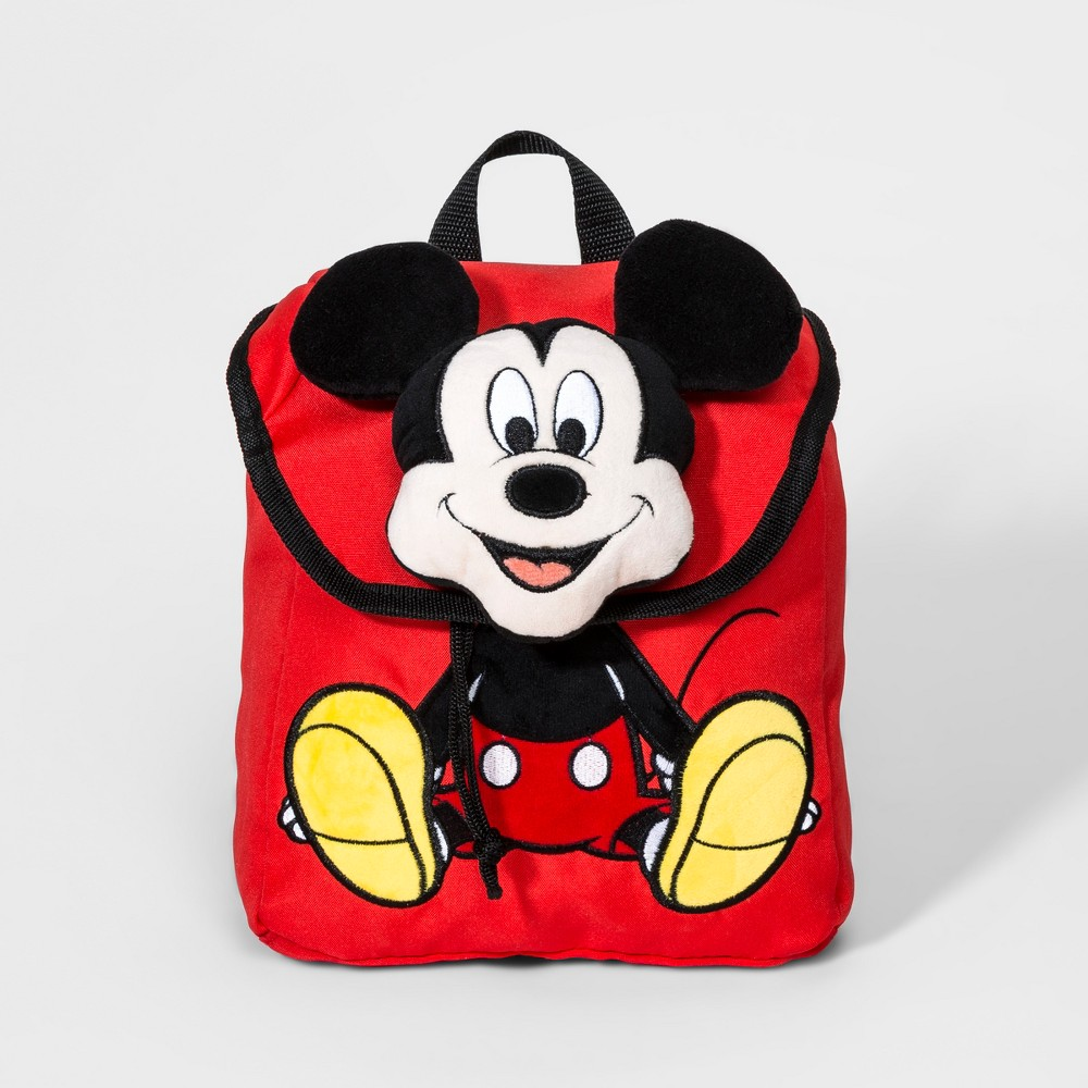 Boys' Disney Mickey Mouse & Friends Mickey Mouse Plush Backpack - Red