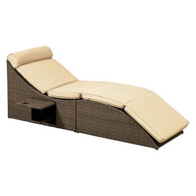 Relax A Lounger Pacifica Outdoor Convertible Sofa Brown
