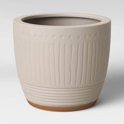 Textured Ceramic Planter White - Opalhouse™