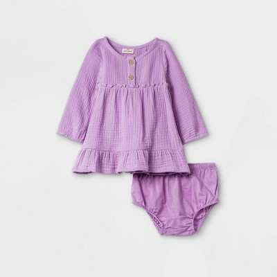 Baby Girls' Gauze Dress - Cat & Jack™ Lilac