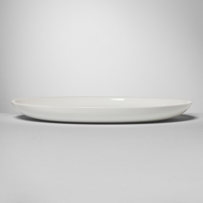 Glass Serving Platter 13  x 9.8  White - Made By Design™