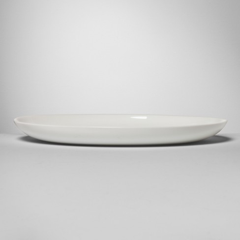 "Glass Serving Platter 12.5"" White - Made By Design™ - image 1 of 7"