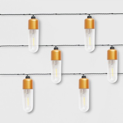 10ct Elongated Tube LED Outdoor String Lights - Project 62™
