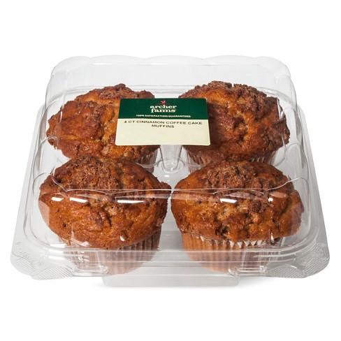 Cinnamon Coffee Cake Muffins - 4ct/16oz - Archer Farms™ - image 1 of 1