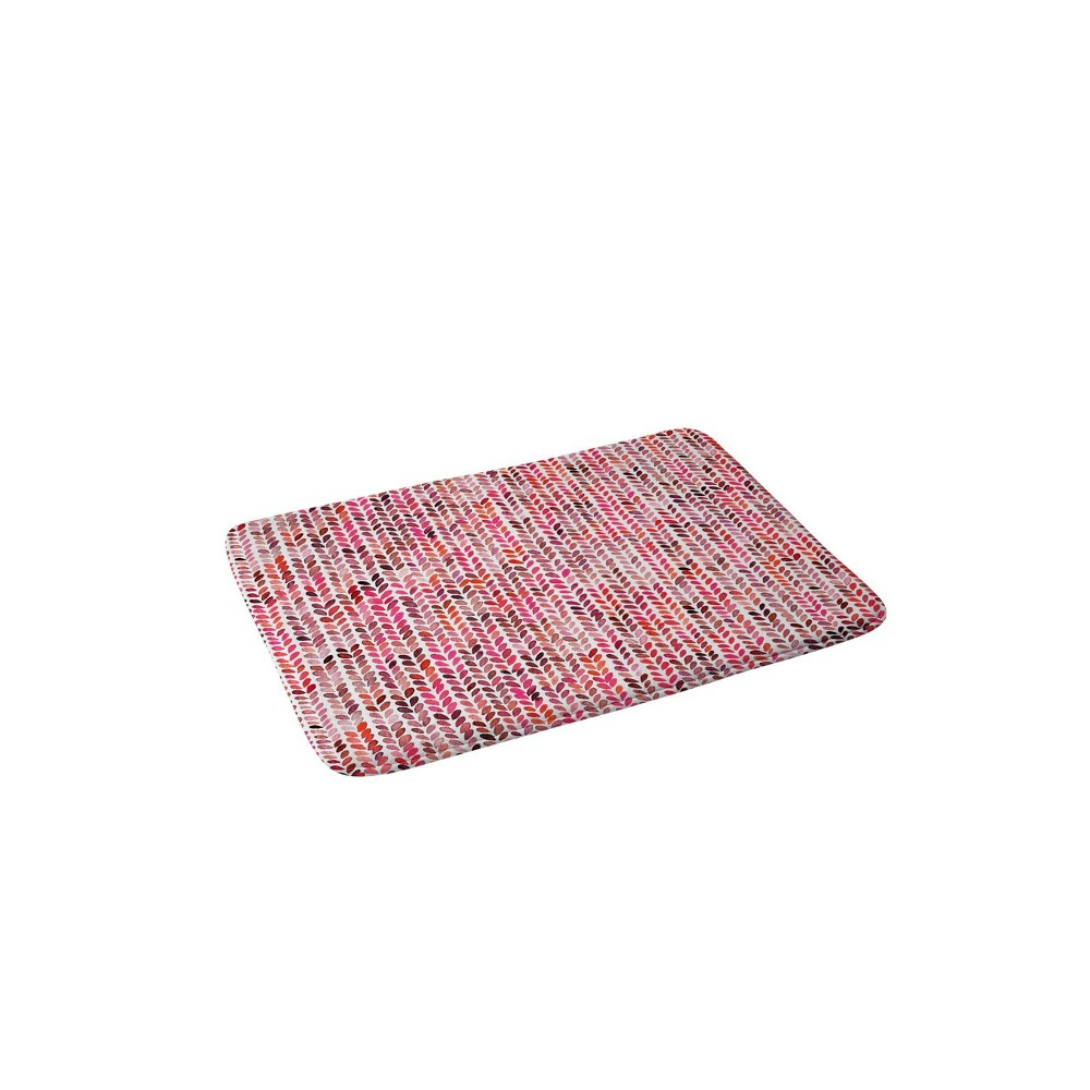 Ninola Design Knitting Texture Christmas Memory Foam Bath Mat Red Deny Designs