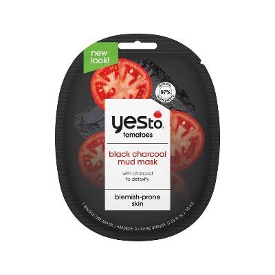 Yes To Tomatoes Detoxifying Black Charcoal Mud Mask - 0.33 fl oz