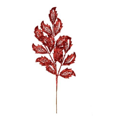 Vickerman Glitter Mistletoe Leaf Aritificial Christmas Spray - image 1 of 2