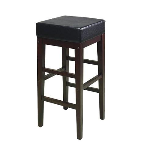 '30.25'' Square Metro Barstool Espresso/Black - OSP Home Furnishings, Size: 30'' Barstool, Brown Black'