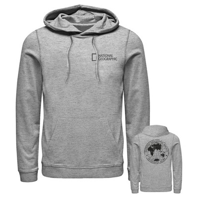 Men's National Geographic Pocket Logo Globe Pull Over Hoodie