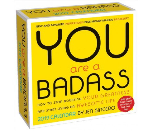 You Are a Badass 2019 Calendar -  by Jen Sincero (Paperback) - image 1 of 1