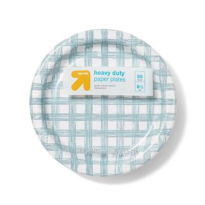 """Line Plaid Paper Plates 8.5"""" - 55ct - up & up™"""