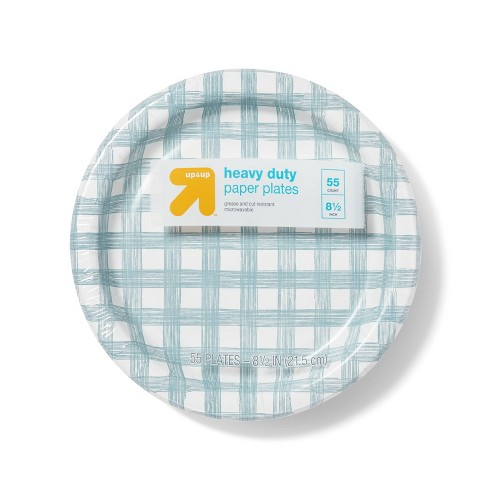 "Line Plaid Paper Plates 8.5"" - 55ct - Up&Up™ - image 1 of 2"