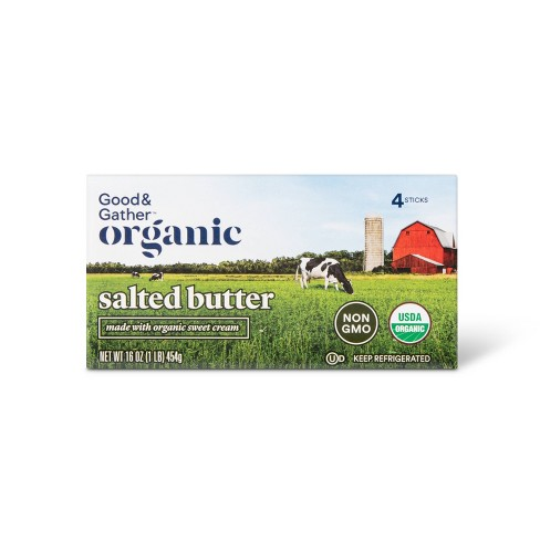 Organic Salted Butter - 1lb - Good & Gather™ - image 1 of 2