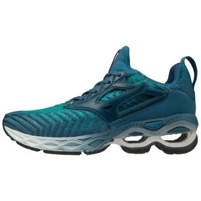 Mizuno Women's Wave Creation Waveknit 2 Running Shoe Womens Size 9 In Color Lapis-Moroc Blue (Lbmb)