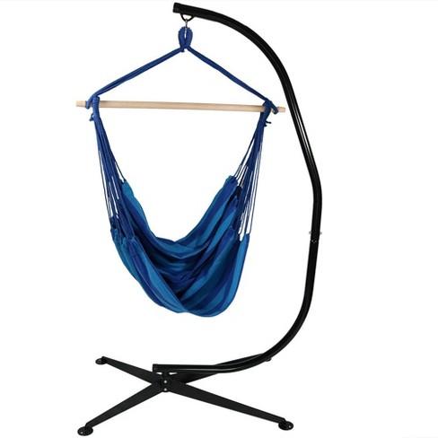 Jumbo Hanging Rope Hammock Chair Swing And Stand Beach Oasis Sunnydaze Decor Target