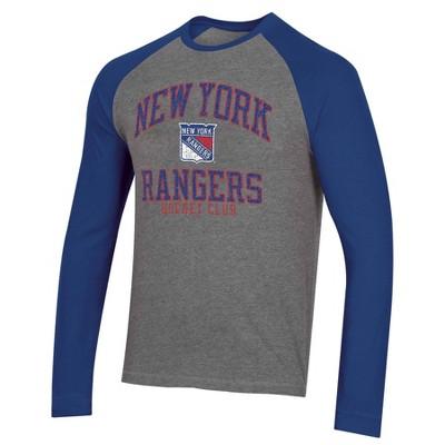 NHL New York Rangers Men's Long Sleeve Raglan T-Shirt - XL