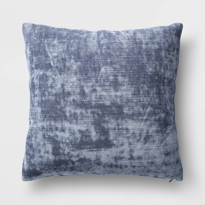 Velvet Square Throw Pillow Blue - Threshold™