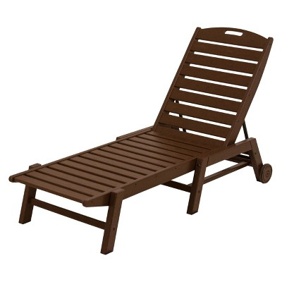 Bon POLYWOOD® Nautical Wheeled Patio Chaise Lounge