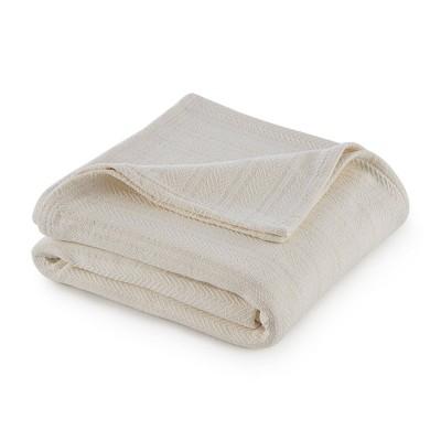Full/Queen Cotton Bed Blanket Ecru - Vellux