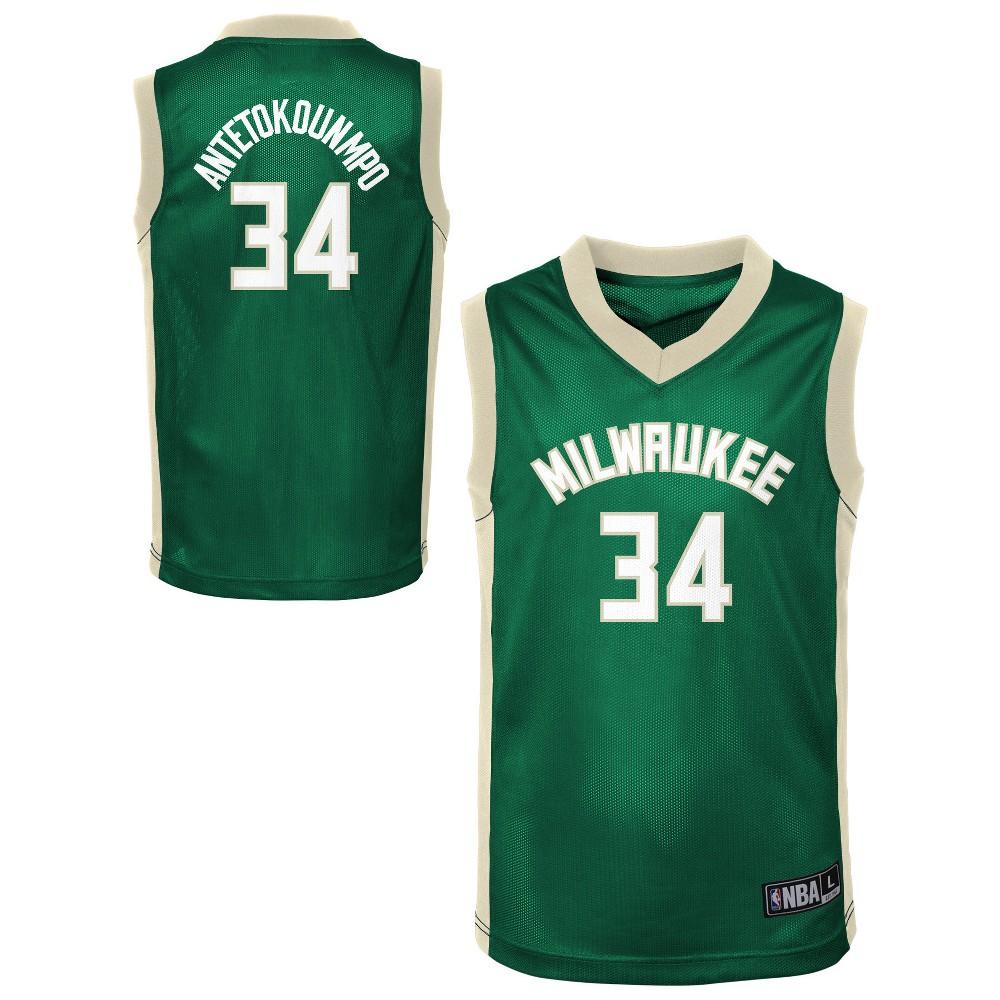 Milwaukee Bucks Toddler Player Jersey 3T, Toddler Boy's, Multicolored