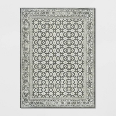 Indoor Floral Woven Area Rug - Threshold™
