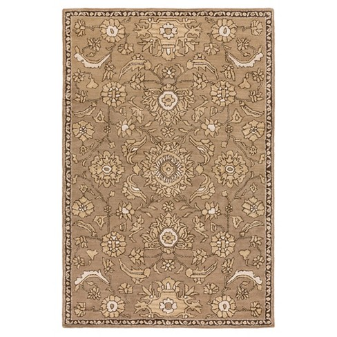 Taupe Abstract Tufted Area Rug - (5'x7'6) - Surya - image 1 of 3