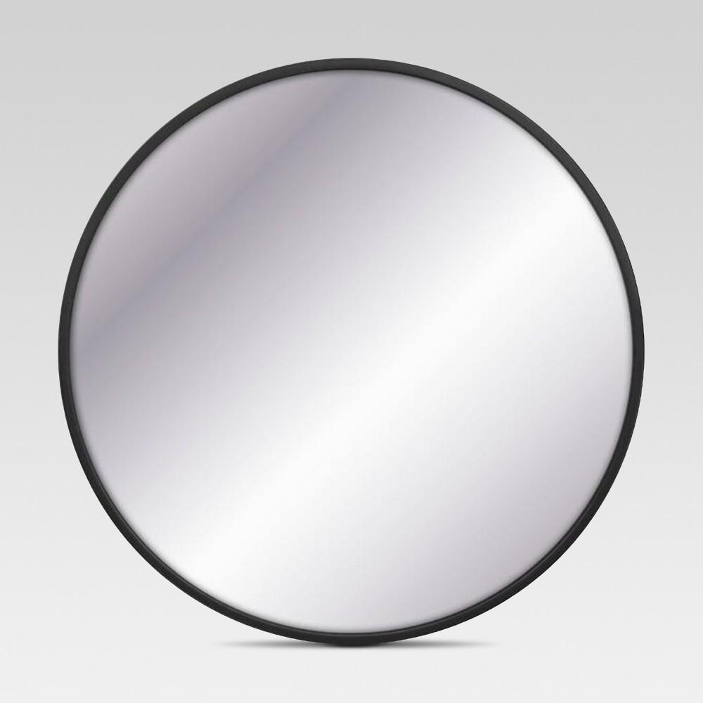 Image of Decorative Circular Wall Mirror - Black - Project 62