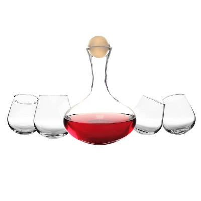 5pc Glass Wine Decanter Set - Cathy's Concepts