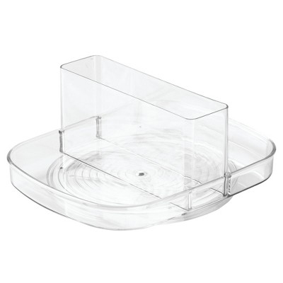 InterDesign Linus Plastic Spinning Napkin and amp Condiment Holder Clear