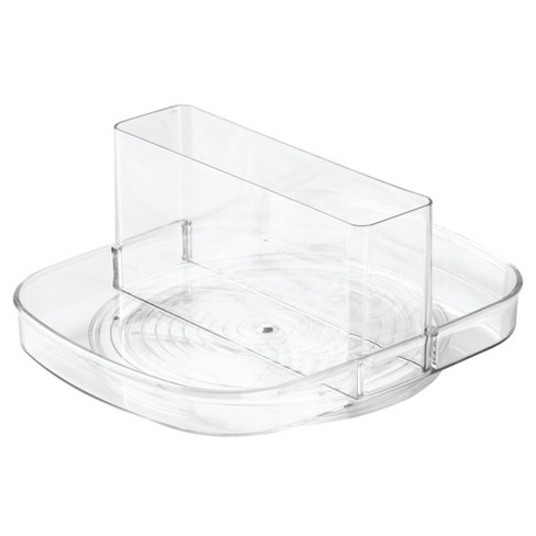 InterDesign Linus Plastic Spinning Napkin and amp Condiment Holder Clear - image 1 of 3