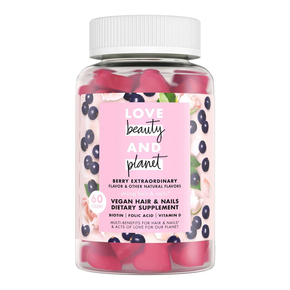 Image of Love Beauty And Planet Multi-Benefit Vitamins Dietary Supplement - Berry Extraordinary – 60ct