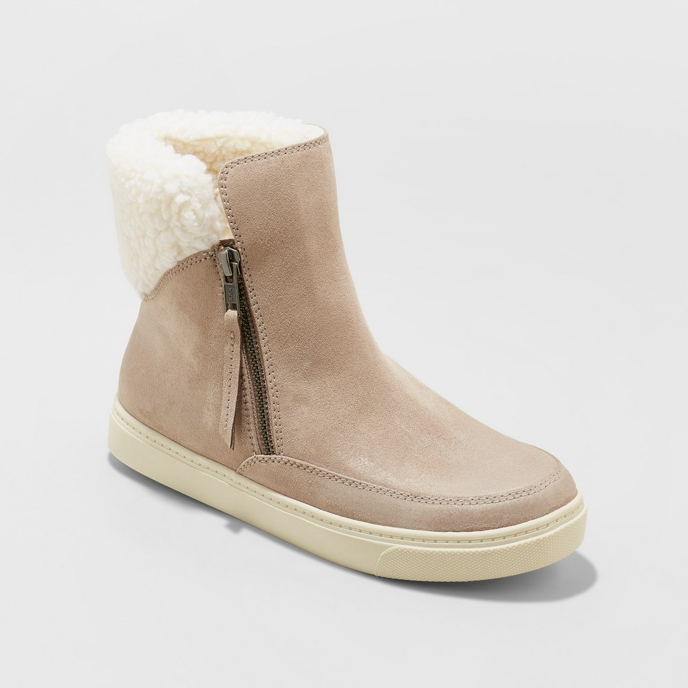 Women's Lei Sneakers Fashion Boots - Universal Thread Gray 8.5