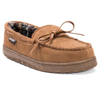 Men's MUK LUKS® Berber Suede Moccasin Slippers