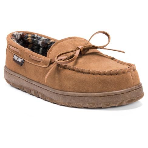 Men's MUK LUKS® Berber Suede Moccasin Slippers - image 1 of 4