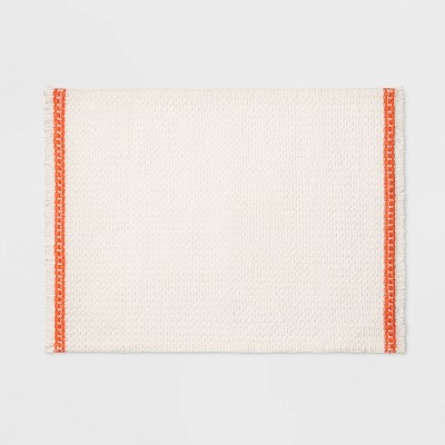 19 x14  Waffle Texture Placemat White - Opalhouse™