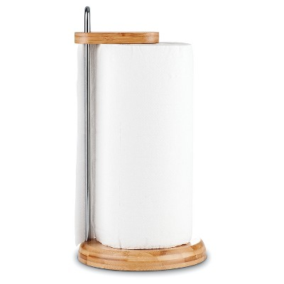 Honey-Can-Do® Bamboo Paper Towel Holder