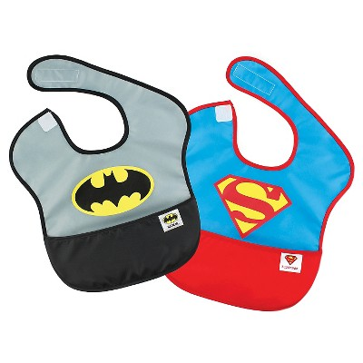 Bumkins DC Comics Batman and Superman Waterproof SuperBib 2pk