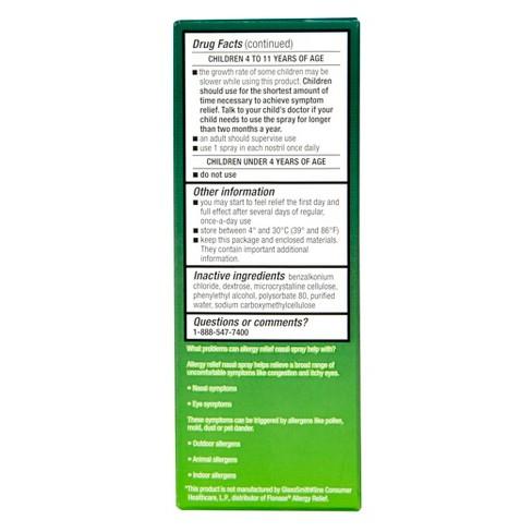 Fluticasone Propionate Glucocorticoid Allergy Relief Nasal Spray