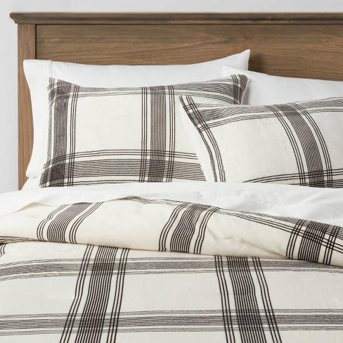 Sherpa & Plush Reversible Plaid Comforter & Sham Set - Threshold&#153 - image 1 of 4