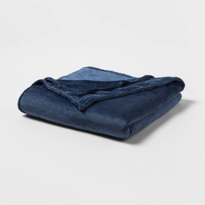 King Microplush Bed Blanket Metallic Blue - Threshold™