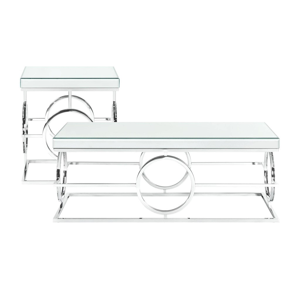 Image of 2pc Katie Occasional Table Set Chrome - Picket House Furnishings