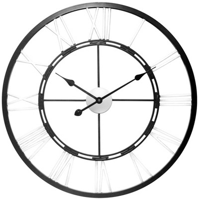 Infinity Instruments Metal Fusion Large Wall Clock Black