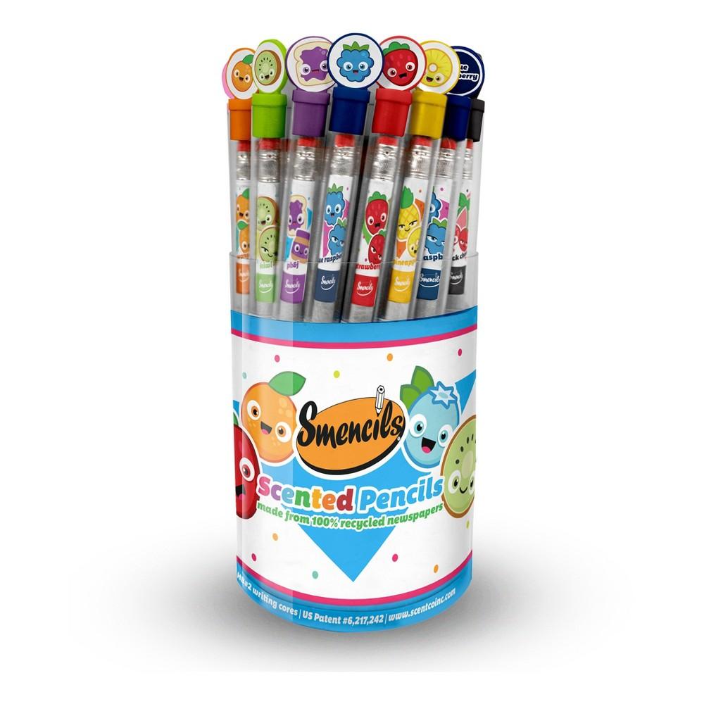 Scentco Smencils Cylinder Scented #2 Pencils 50ct, Multi-Colored